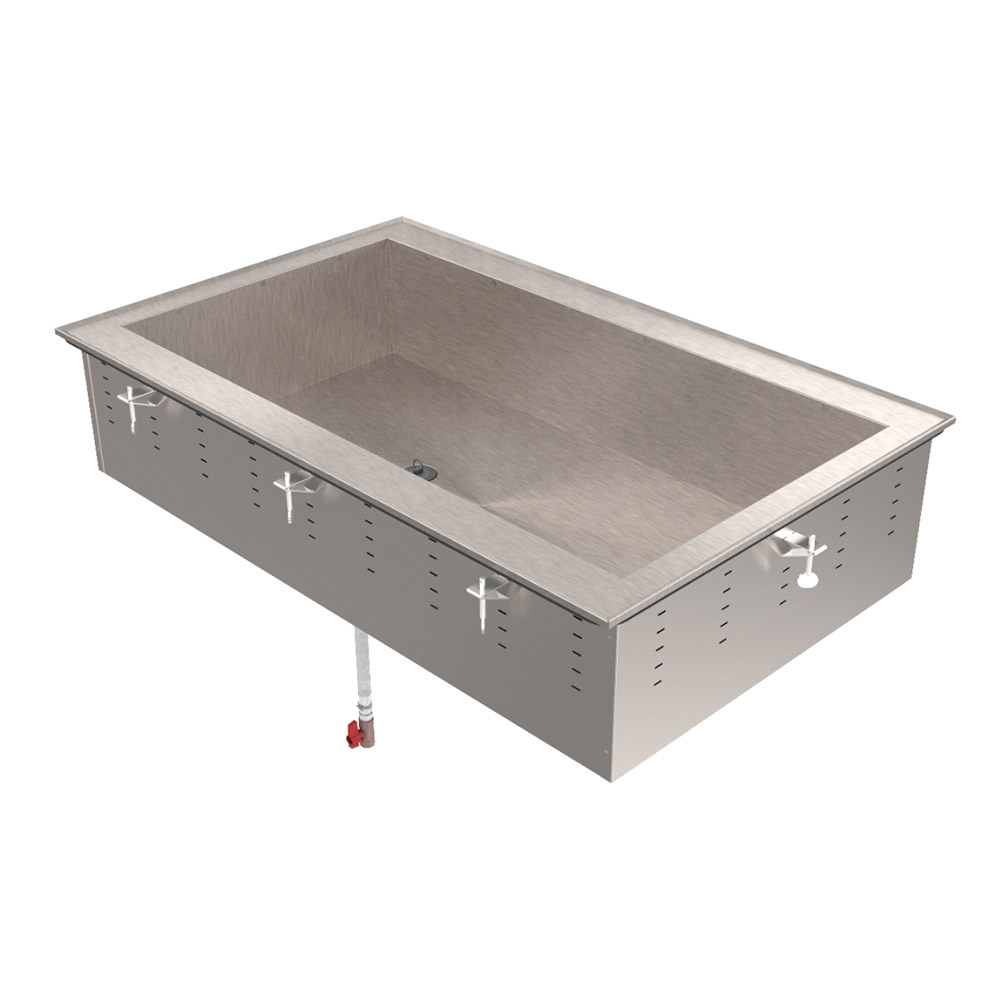 Vollrath 36452 4 Pan Non-Refrigerated Cold Pan Drop-In Stainles Restaurant Supply