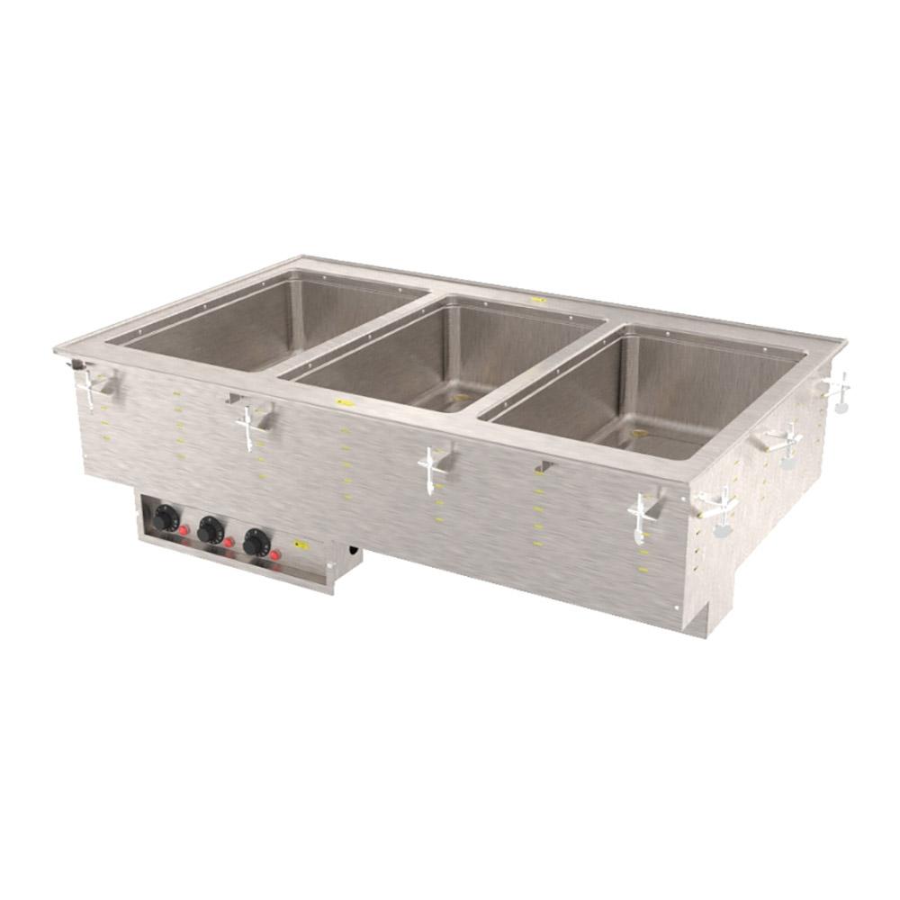 Vollrath 3647350 3 Well Modular Hot Drop-In Infinite Manifold Drain 625 W 240 V Restaurant Supply