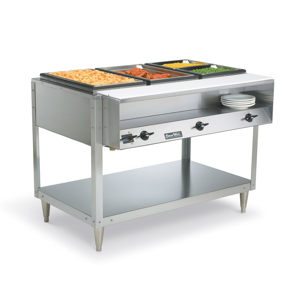 Vollrath 38117 Servewell Hot Food Buffet Table 3 No Drip Wells Restaurant Supply