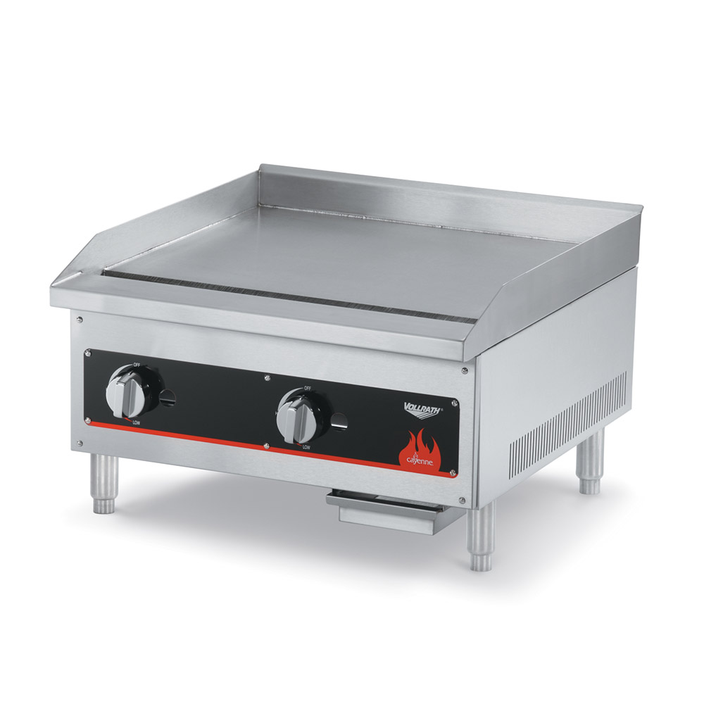 Vollrath 40720 24-in Griddle w/ .75-in Steel Plate & Manual Control LP/NG Restaurant Supply