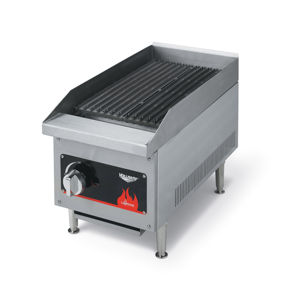 Vollrath 40728 Cayenne 12 in Charbroiler Lava Rock NG w/ LP Converison Kit Restaurant Supply
