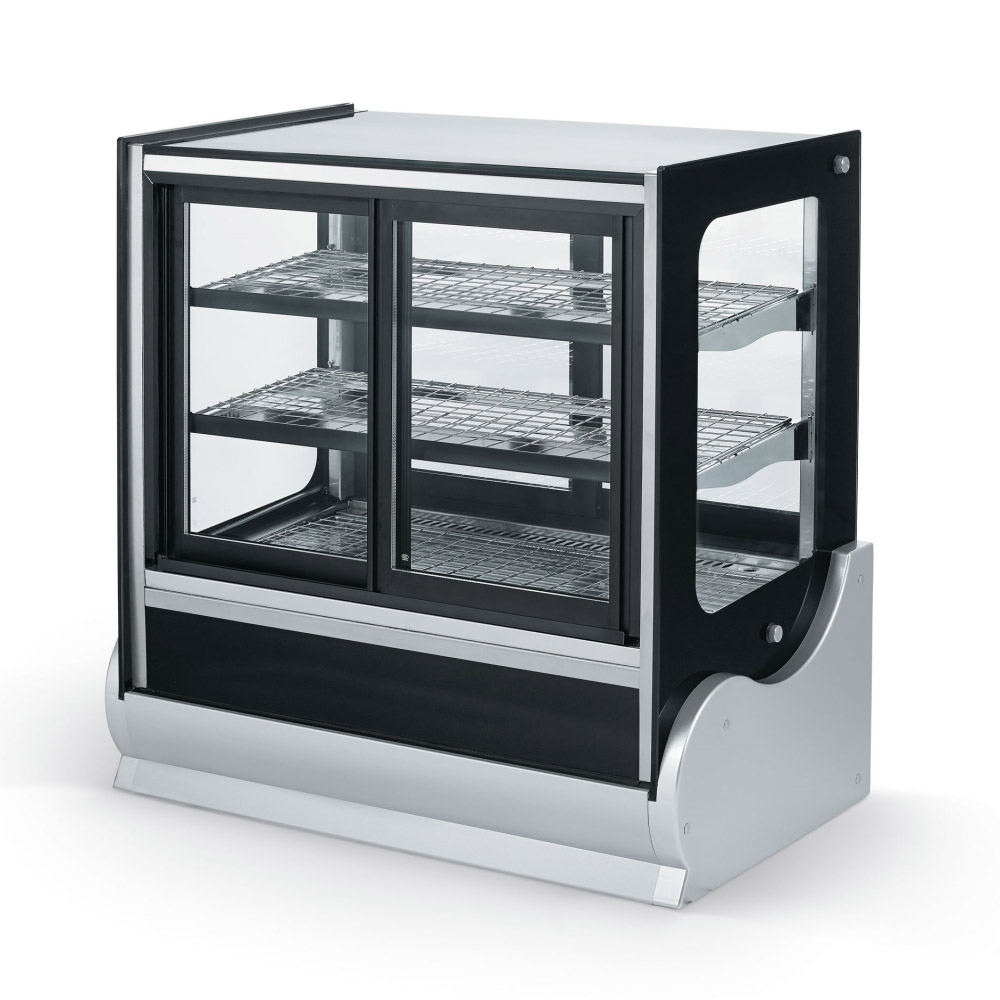 """Vollrath 40890 36"""" Full Service Refrigerated Deli Case w/ Curved Glass - (4) Level, 120v"""