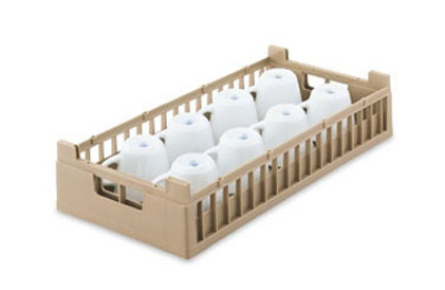 Vollrath 52806 2 Dishwasher Rack 10-Cup - Half-Size, Cocoa