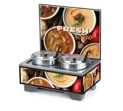 Vollrath 720202107 Soup Merchandiser, Board w/ 7-qt Accessory Pack, Variety Graphics