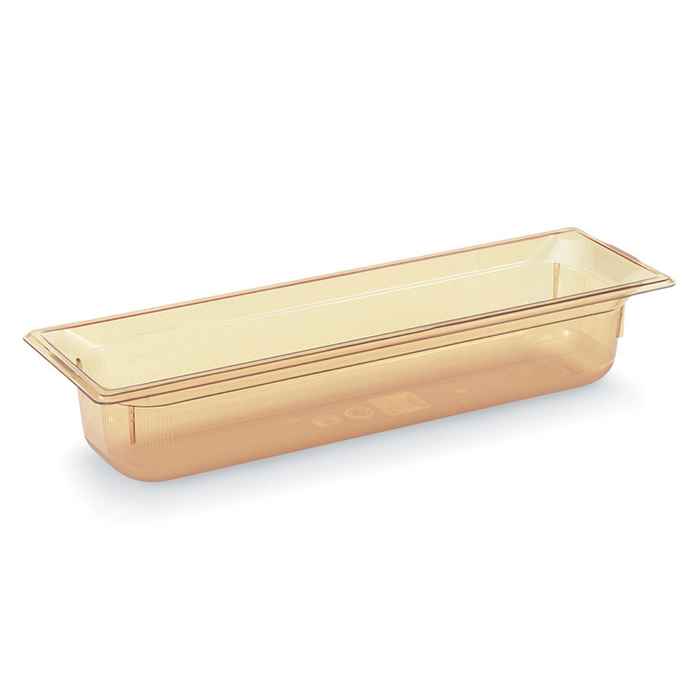 Vollrath 9054410 Super Pan III Half Size Long Pan 4 in Deep High-Temp Amber NSF Restaurant Supply