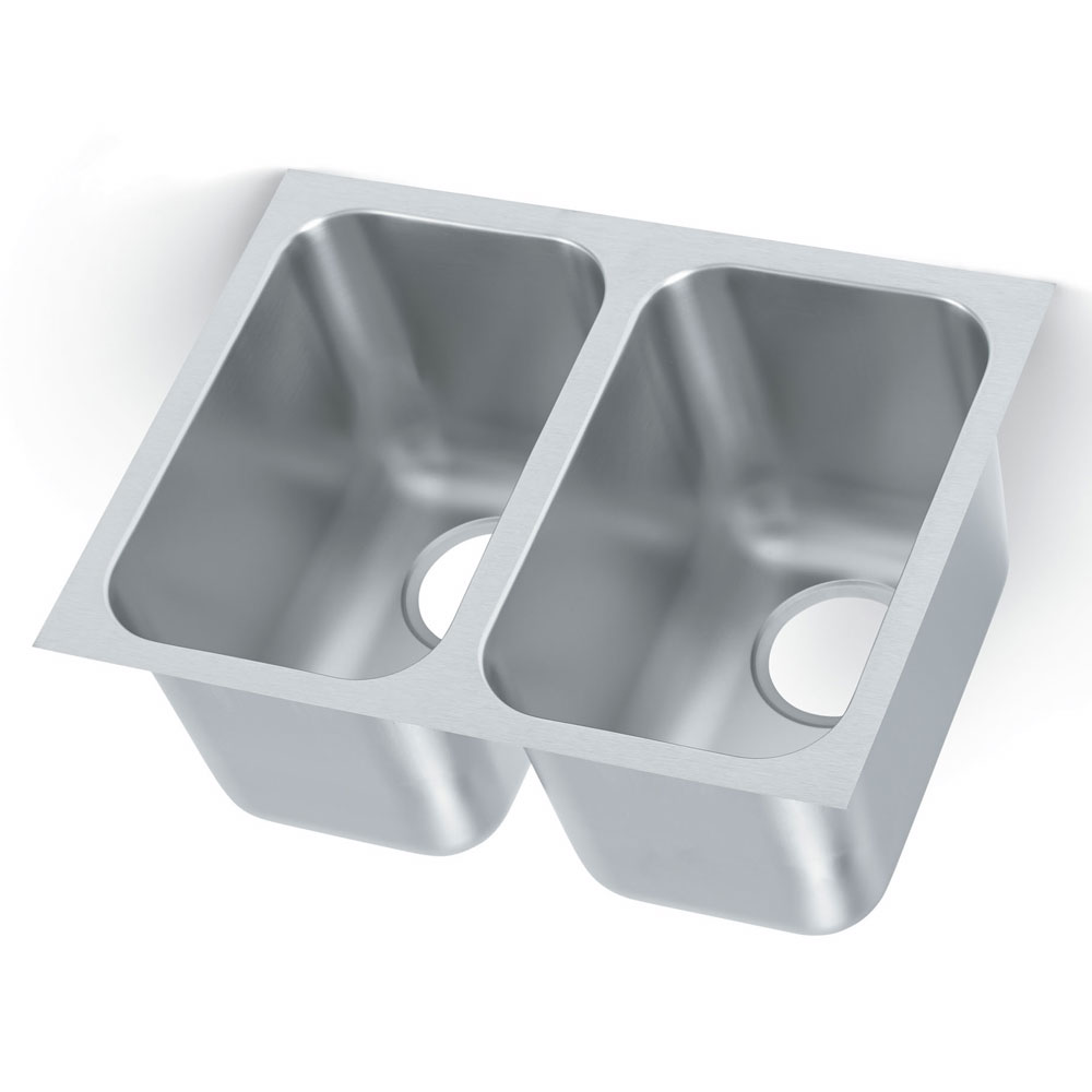 Vollrath 9102-1 2-Compartment Super Heavy Weight Drop-In Sink w/ Square Corners