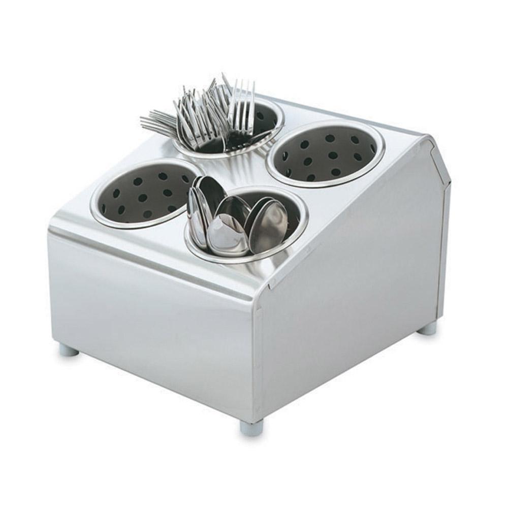 Vollrath 97240 Cutlery Dispenser Silv-a-Tainer 4 Cylinder Restaurant Supply