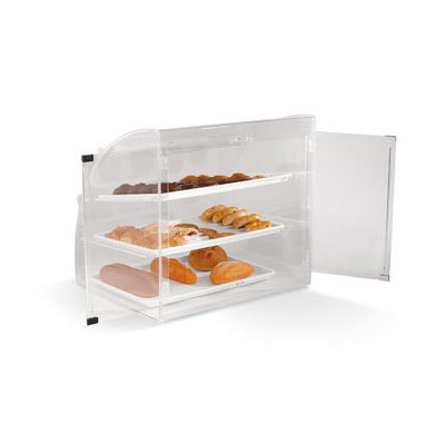 "Vollrath ELBC-1 Curved-Front Pastry Display Case -  (3)18x26"" Trays"