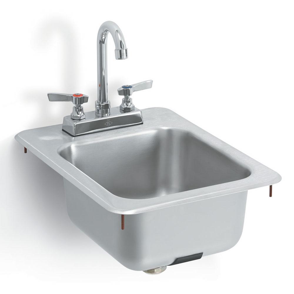 "Vollrath K1734-C Yukon Bar/Waitress Drop-In Sink, Faucet, Strainer, 13x17"""