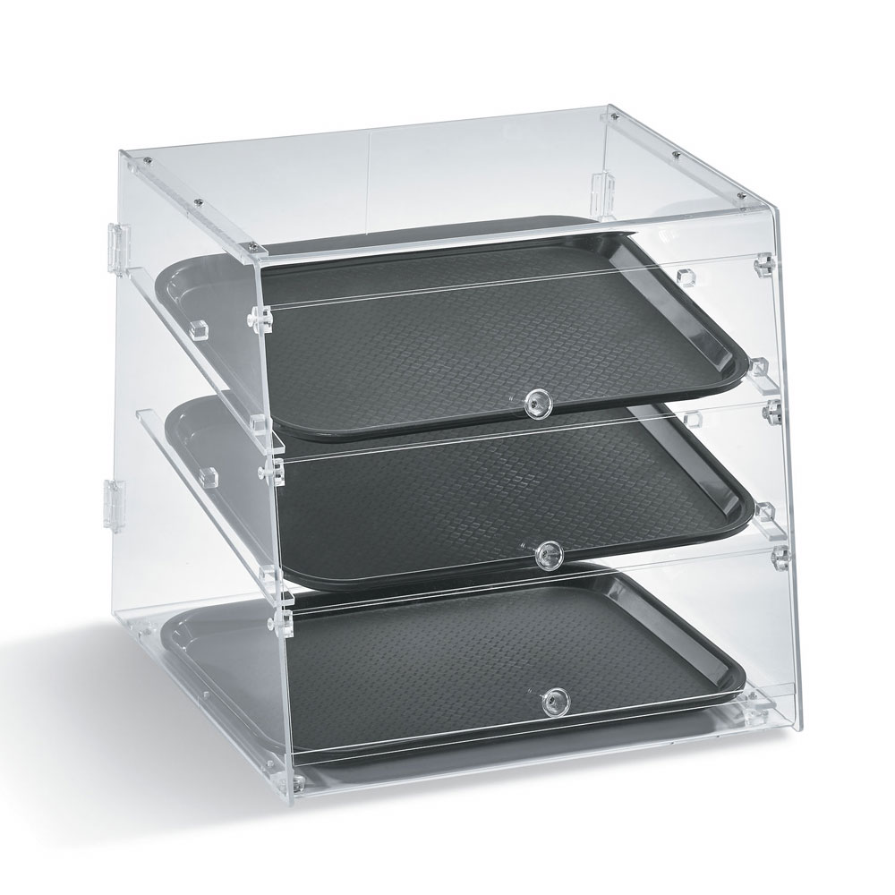 "Vollrath KDC1418-3-06 Slant-Front Countertop Pastry Display Case - (3)14x18"" Trays"