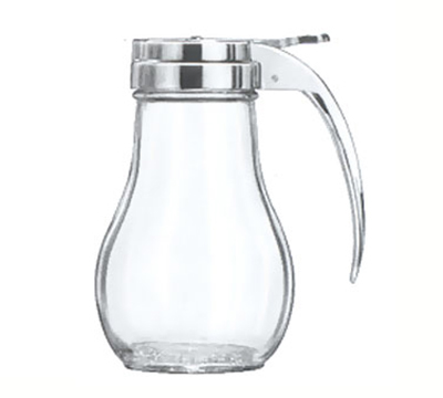 Vollrath 214 14-oz Syrup Server - Chrome Cap, Clear Glass