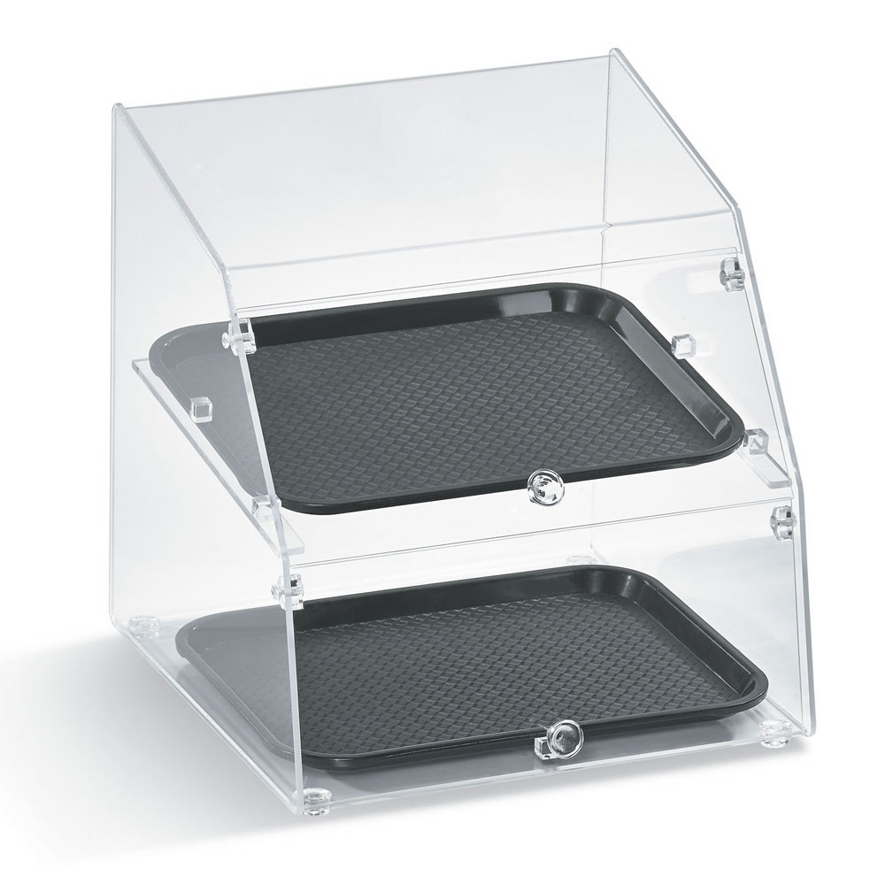 "Vollrath LBC1418-3R-06 Curved-Front Pastry Display Case -  (3)14x18"" Trays"