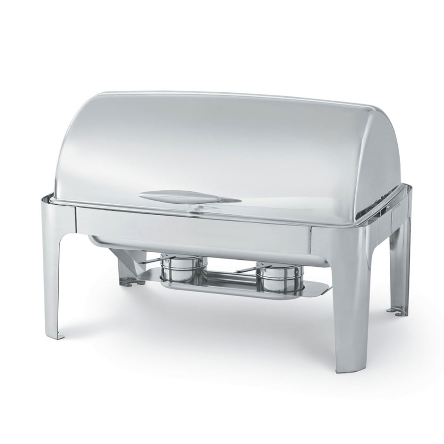 Vollrath T3500 8 qt Rectangular Roll Top-Chafer, Welded Frame, Two Fue
