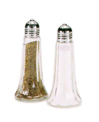 Vollrath 1002 1.5-oz Salt & Pepper Shaker - Glass w