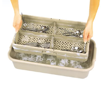 Vollrath 1394 Soak System - 5-in Drain Box, 5-in Soak Box, Half Size