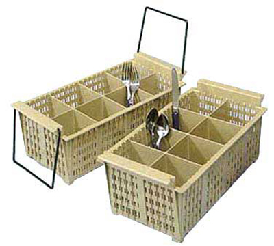 Vollrath 1372 Flatware Basket - 8-Compartment, Handles, 16-7/8x8