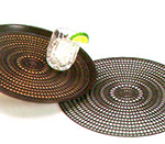 Vollrath 1420-01 Anti-Skid Tray Mat - Rubber Surface, 12.5-in, Dark Brown