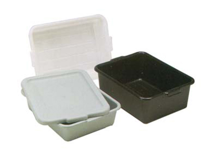 "Vollrath 1520B-31 Budget Bus Box - Tapered Side Walls, 15 x 20 x 5"", Plastic, Gray"