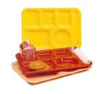 Vollrath 2615-133 School Compartment Tray - Right Hand, 9-3/4x13-3/4