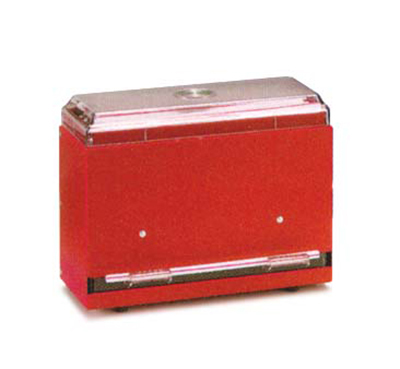 "Vollrath 3825-02 Single-Side Straw Dispenser - 250 Capacity, 9x4x7"" Red"