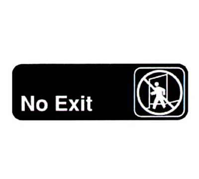 Vollrath 4508 No Exit Sign - 3