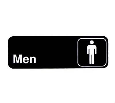 """Vollrath 4515 Men Sign - 3x9"""" Whit"""