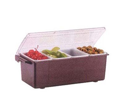 Vollrath 4741-01 4-Pt Condiment Dispenser Standard Lid - Plastic, Brown