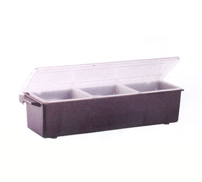 Vollrath 4742-06 3-qt Condiment Dispenser Standard Lid - Plastic, Black