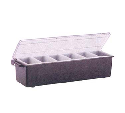 Vollrath 4743-01 6-Pt Condiment Dispenser Standard Lid - Plastic, Brown