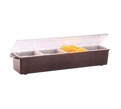 Vollrath 4745-01 4-qt Condiment Dispenser Standard Lid - Plastic, Brown