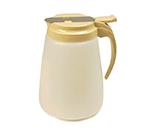 Vollrath 4748-01 48-oz Syrup Server - White Poly Jar, Brown Plastic Top