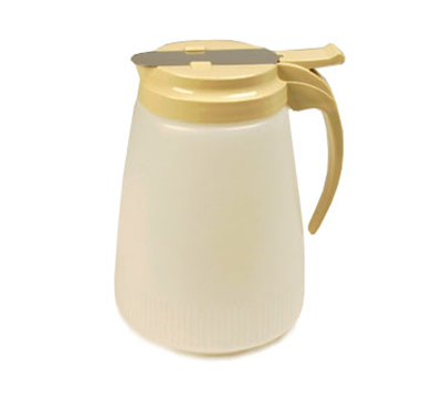 Vollrath 4748-01 48-oz Syrup Server - White Poly Jar, Brown Plastic Top