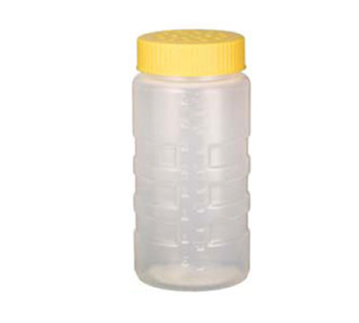 Vollrath 4961-1308 16-oz Dredge - Large Holes, Yellow Lid, Clear