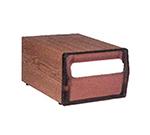 Vollrath 5512-12 Countertop Napkin Dispenser - Walnut
