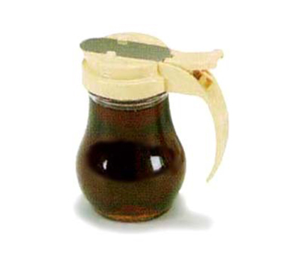 Vollrath 606-06 6-oz Syrup Server - Black Plastic Top, Glass Jar