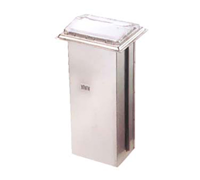 Vollrath 6525-28 In-Counter Napkin Dispenser - 500 Capacity, Chrome Faceplate, Stainless