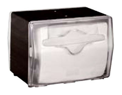 Vollrath 7545-06 Napkin Dispenser - Table Type, Clear Face, Black