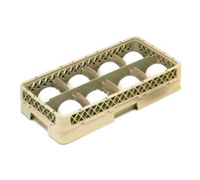 Vollrath HR-1B1A Dishwasher Rack - Half-Size, 8-Compartment, (1) Open Extender, Plastic, Beige