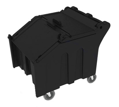 Vollrath ICE140-06 Mobile Ice Caddy - 140-lb Capacity, Sliding Lid, Black