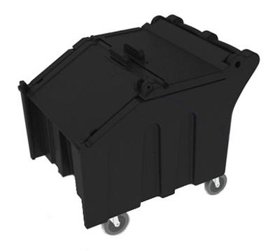 Vollrath ICE140-06 Mobile Ice Caddy - 140-lb Capacity, Sliding Lid, Black