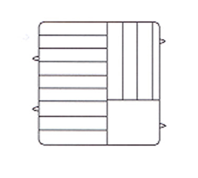 Vollrath PM1211-6 Dishwasher Rack - 12-Plate Capacity, 6-Exten