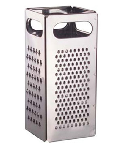"""Vollrath SG-200 4-Sided Grater - 4x9"""" Hand Grips, Stainless"""