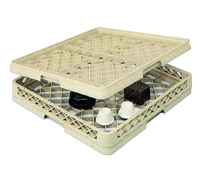 Vollrath TR-13BB Full-Size Glassware Rack - Low-Profile 25-Compartment, 2-Extenders, Beige