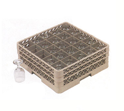 Vollrath TR-6BB Full-Size Dishwasher Glassware Rack - 25-Sq