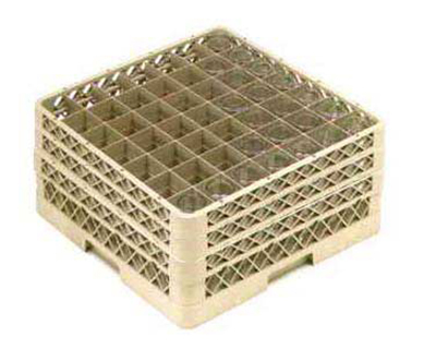 Vollrath TR-9EEE-19 Full-Size Glassware Rack - 49-Compartment, 3-Extenders, Green