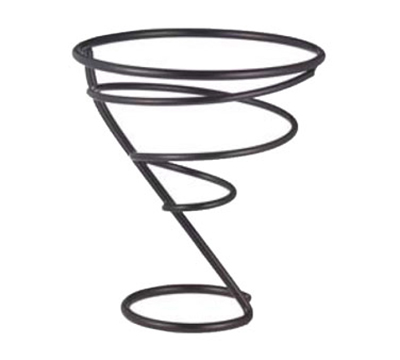 "Vollrath WC-6007-06 7"" Wire Cone Basket - Black"