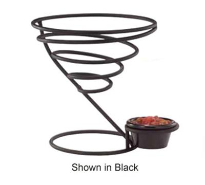 """Vollrath WC-6009 7"""" Wire Cone Basket with Ramekin Holder - Chrome"""