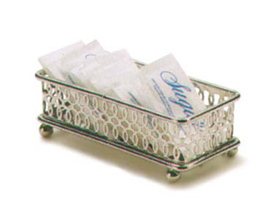 "Vollrath WR-1009 Sugar Caddy - 5x2-1/8x1-5/8"" Chrome"