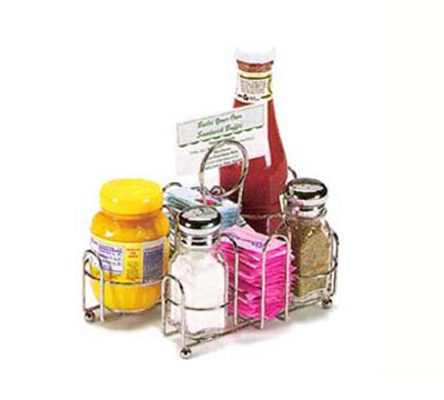 "Vollrath WR-1000R Wire Rack Condiment Caddy - 8-7/8x6x5-1/2"" Chrome"