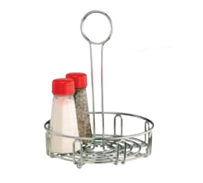 Vollrath WR-1023 Round Condiment Caddy - Holds (4) 12-oz Bottles and S/P Shakers